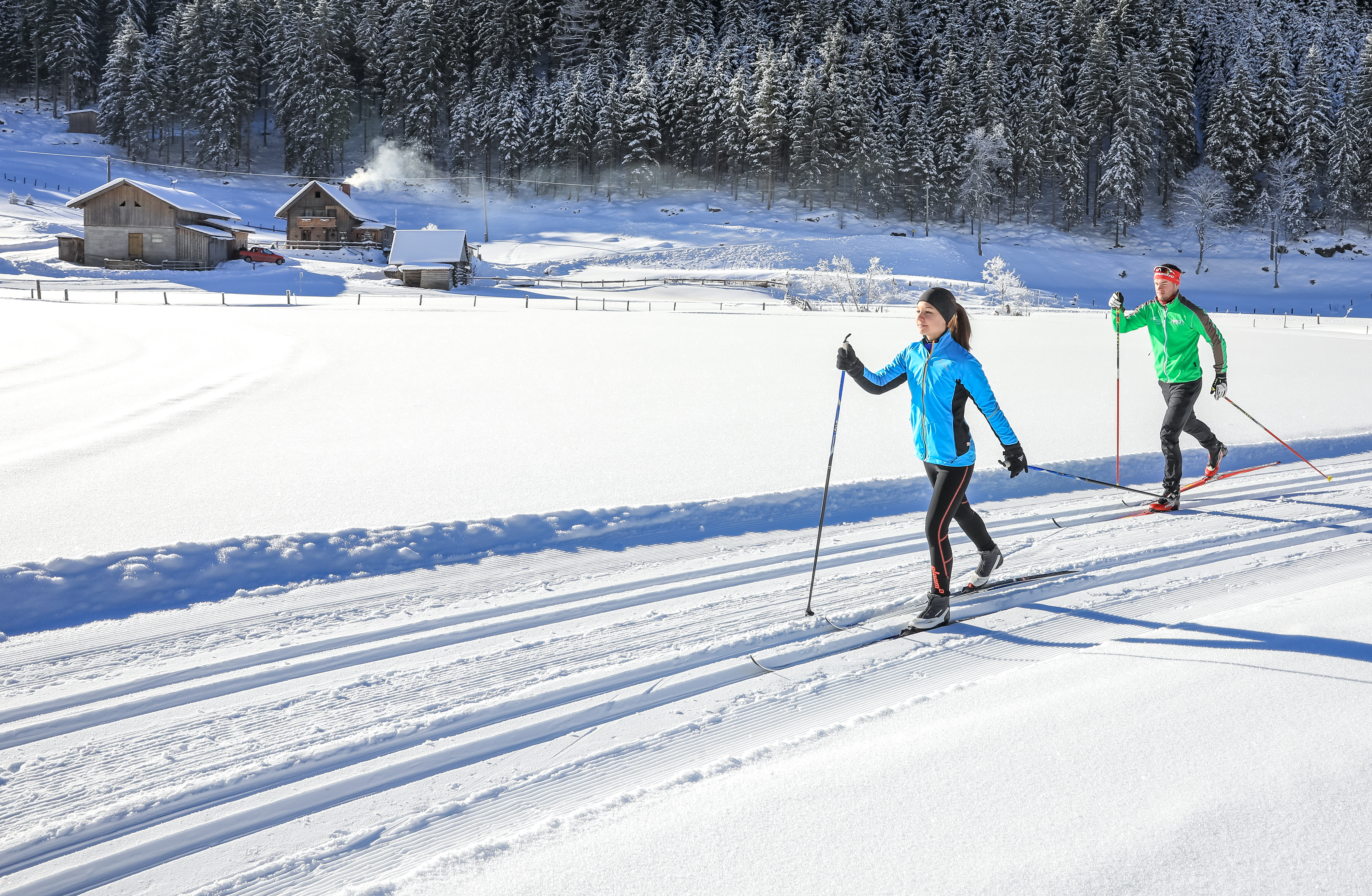 Cross-country skiing in Schladming in Austria